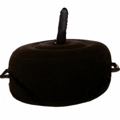 Надуваемо горещо седло с вибратор в черен цвят - Fetish Fantasy
