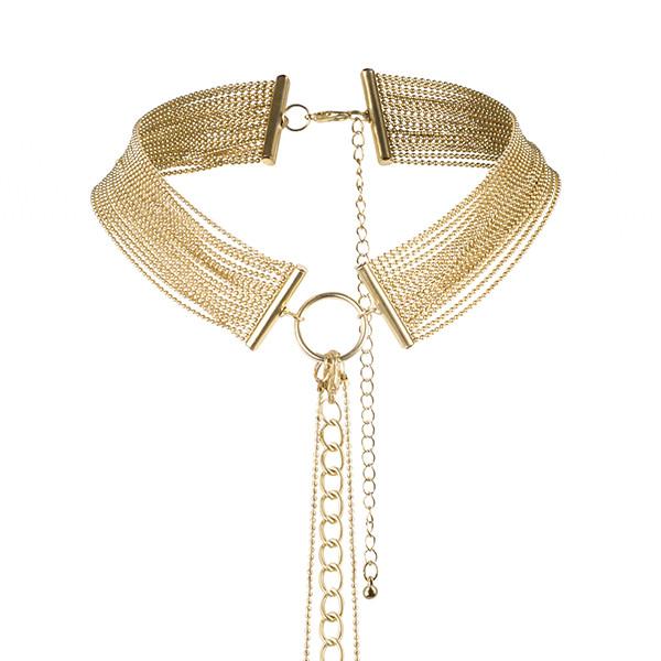 Метална огърлица тип чокър украсяваща тялото – Magnifique Collar Gold