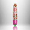 Мини вибратор със 7 вибро режима на цветя 8см. - Coloured 7 Speed RO-80mm Flower Print — 4