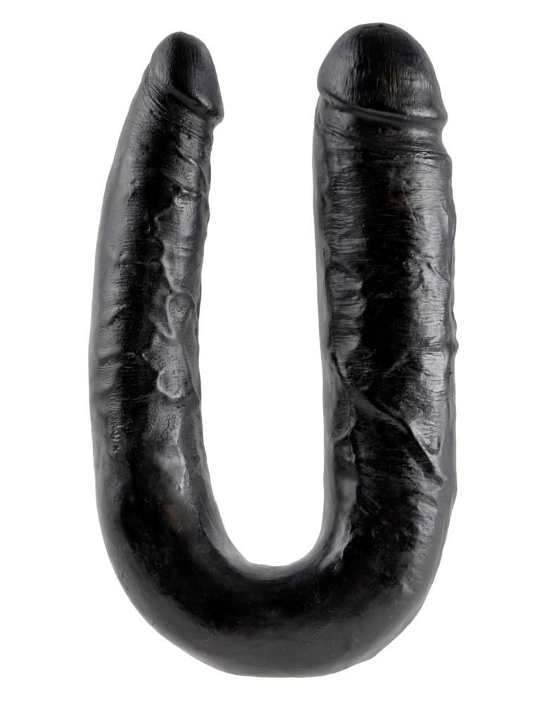 Двойно дилдо за двоен проблем, голям размер в черен цвят – U-Shaped Large Double Trouble