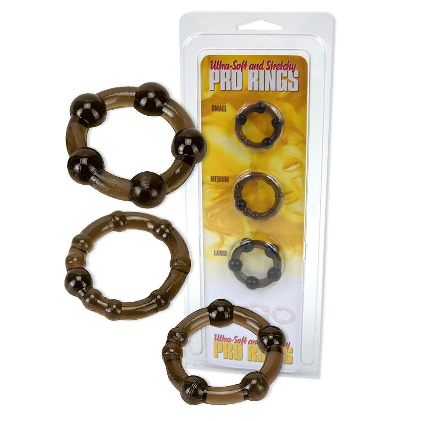 Комплект, пенис пръстени – Pro Rings 3er Set Frosted Black