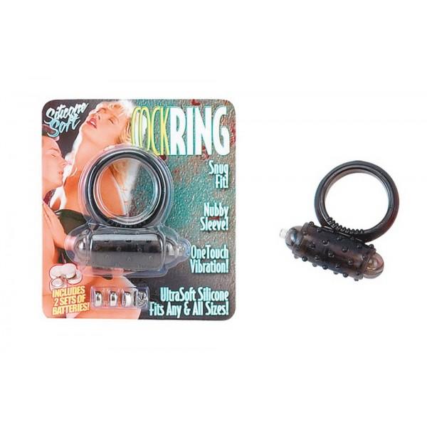 Вибриращ пенис пръстен с клитор стимулатор - Vibrating Cockring Silicone Black — 4
