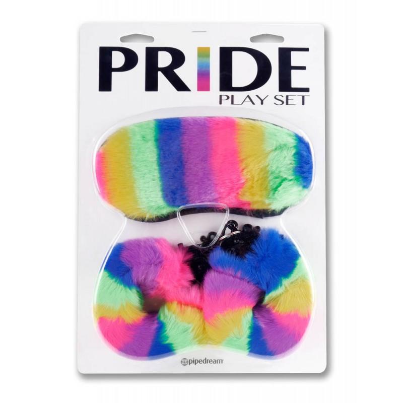 Маска за очи и белезници, цветно приключение – Pride Play Set