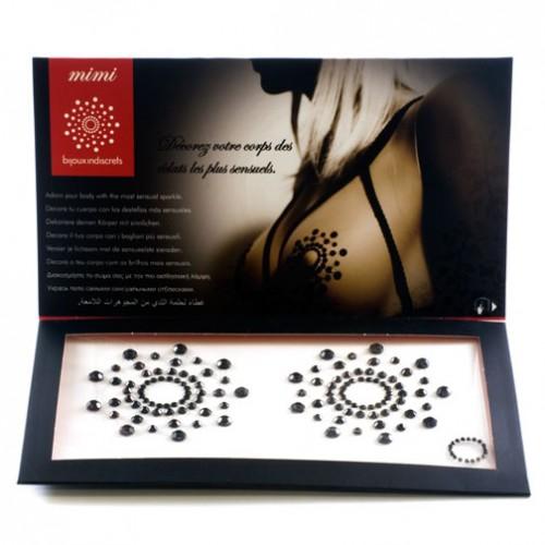 Украшение за тяло - Mimi Black Nipple Covers — 7