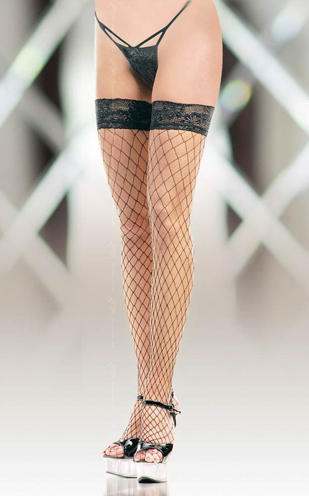 Дълги чорапи в черен цвят - Stockings 5520