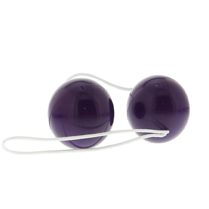 Вагинални топчета с гладка повърхност в лилав цвят – Vibratone Duo Balls Purple