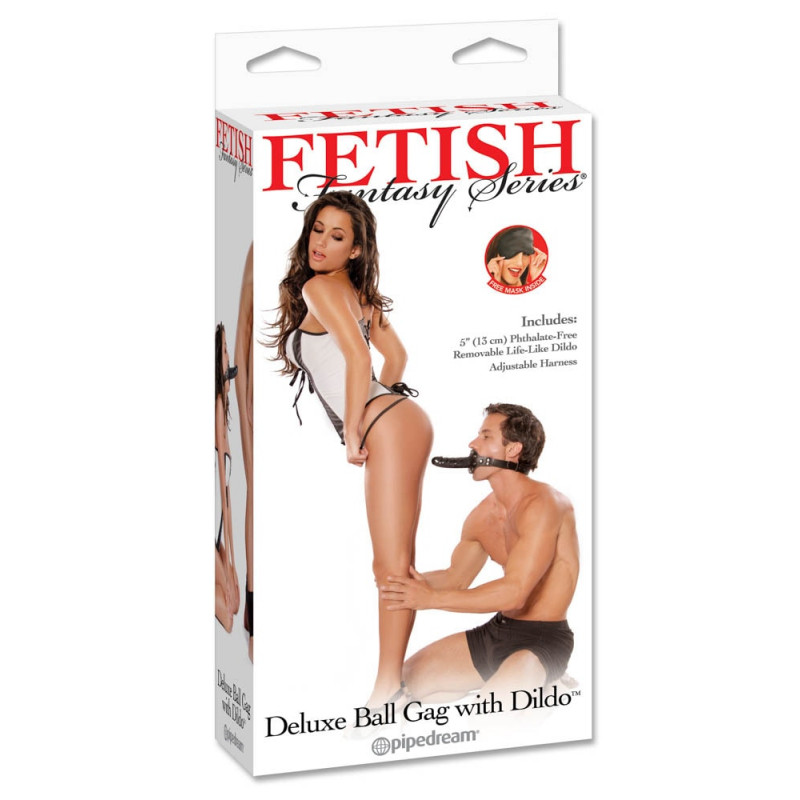 Луксозна топка за уста с дилдо – Deluxe Ball Gag with Dong