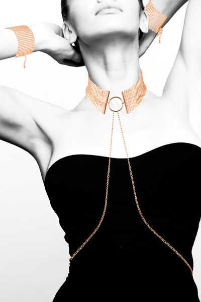 Метална яка със златна верижка - Désir Métalique Collar — 6