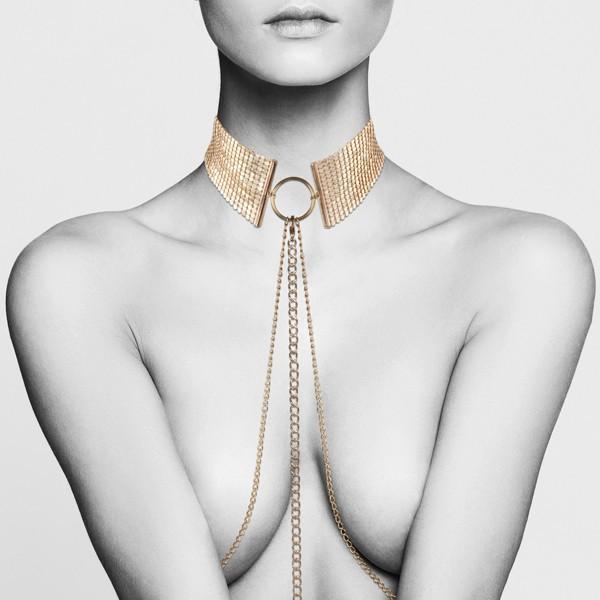 Метална яка със златна верижка - Désir Métalique Collar — 7
