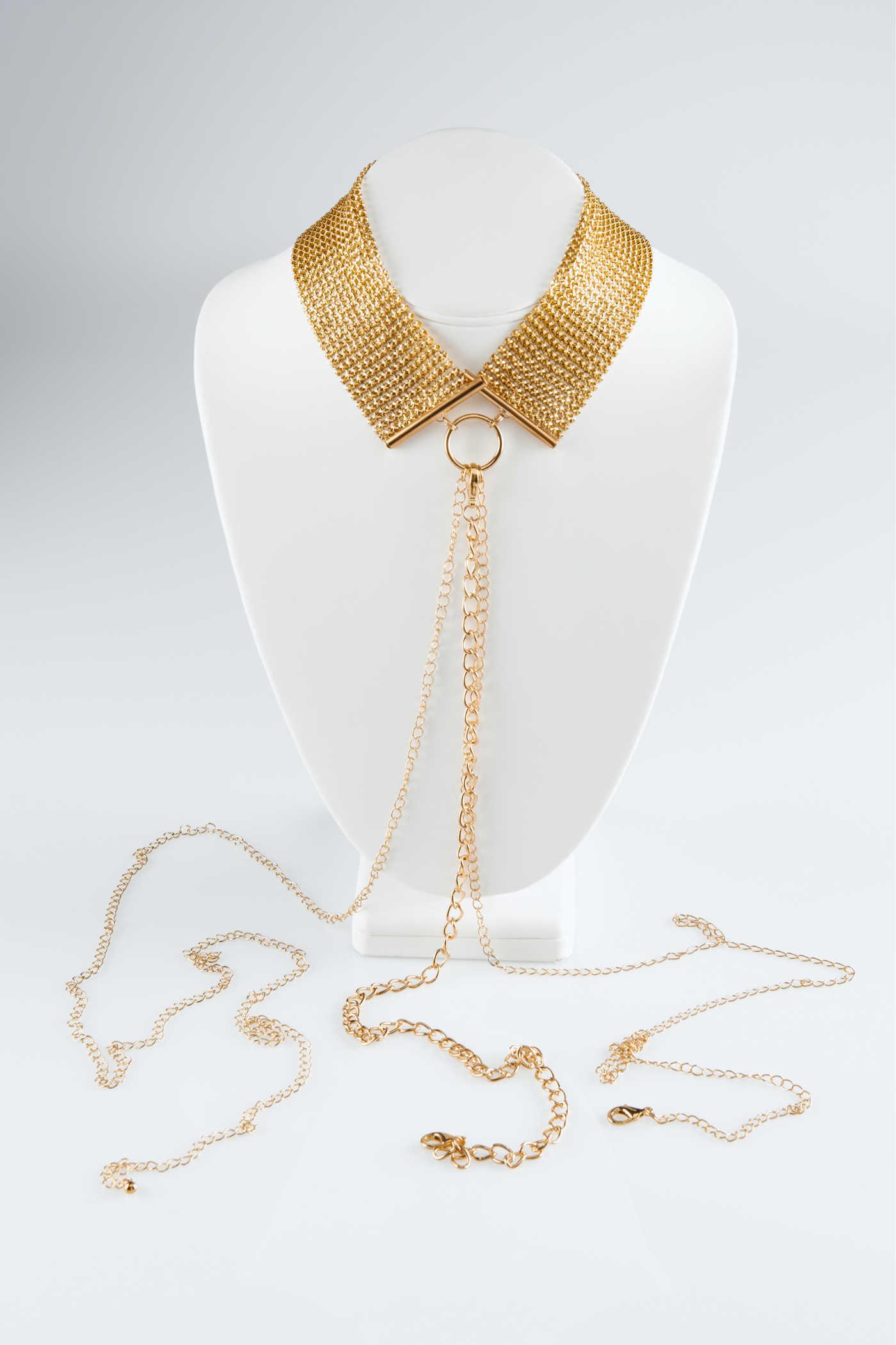 Метална яка със златна верижка - Désir Métalique Collar — 3