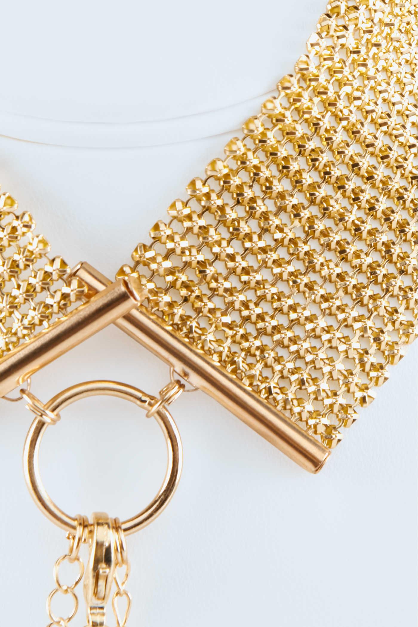Метална яка със златна верижка - Désir Métalique Collar — 5