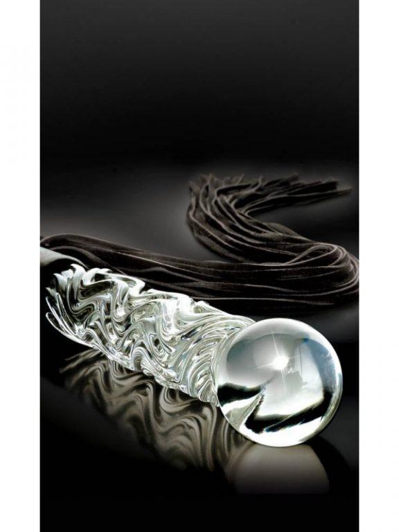 Дилдо-камшик от стъкло – Icicles №38
