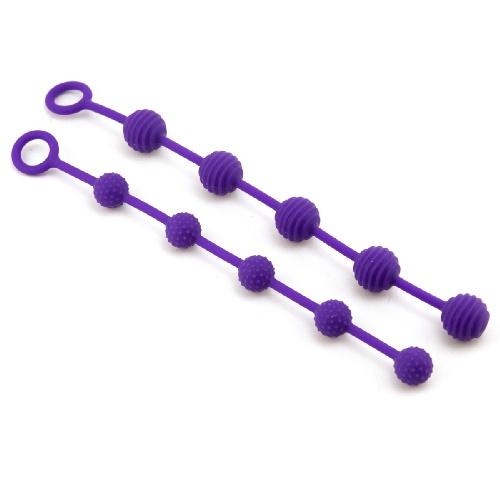 Анални топчета от силикон, комплект – Posh O Beads Purple