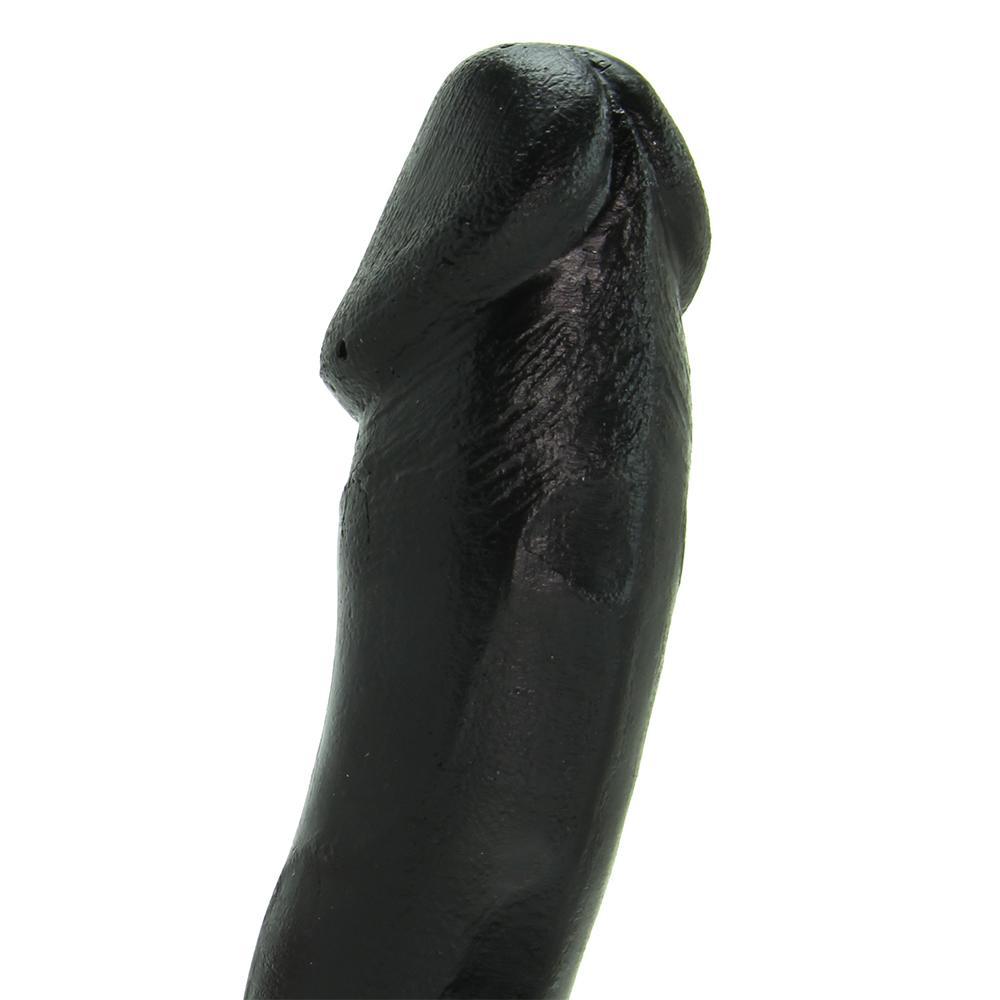 Пенис дилдо с тестиси в черен цвят - Basix Rubber Works 18см. — 5