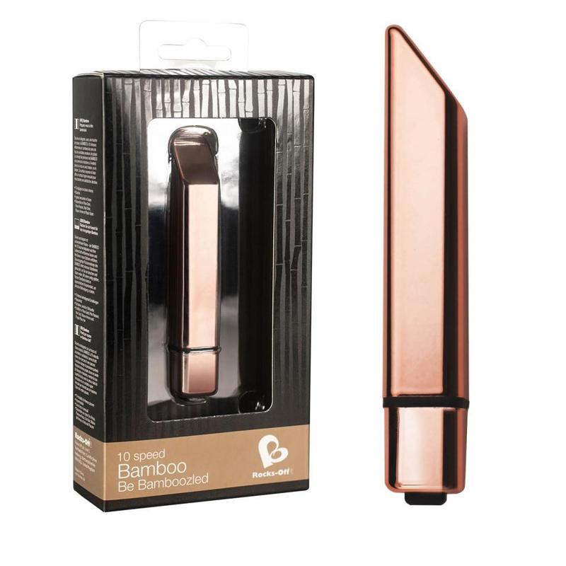 Мини вибратор, дискретен и стилен, 11,6см. – Bamboo Rose Gold