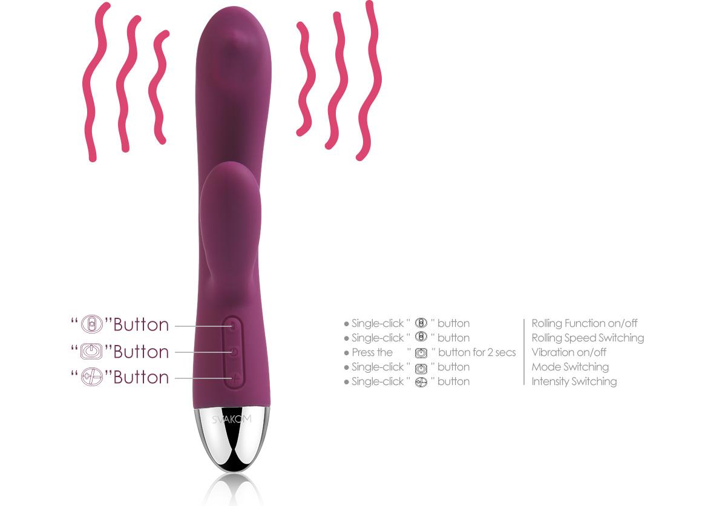 Мултифункционален вибратор - Trysta Violet — 2