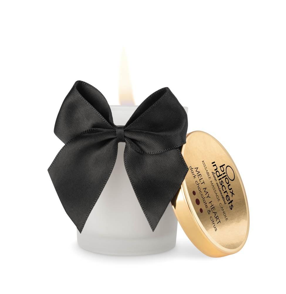 Масажна свещ с вкус на тъмен шоколад – Melt My Heart, Dark Chocolate 70ml