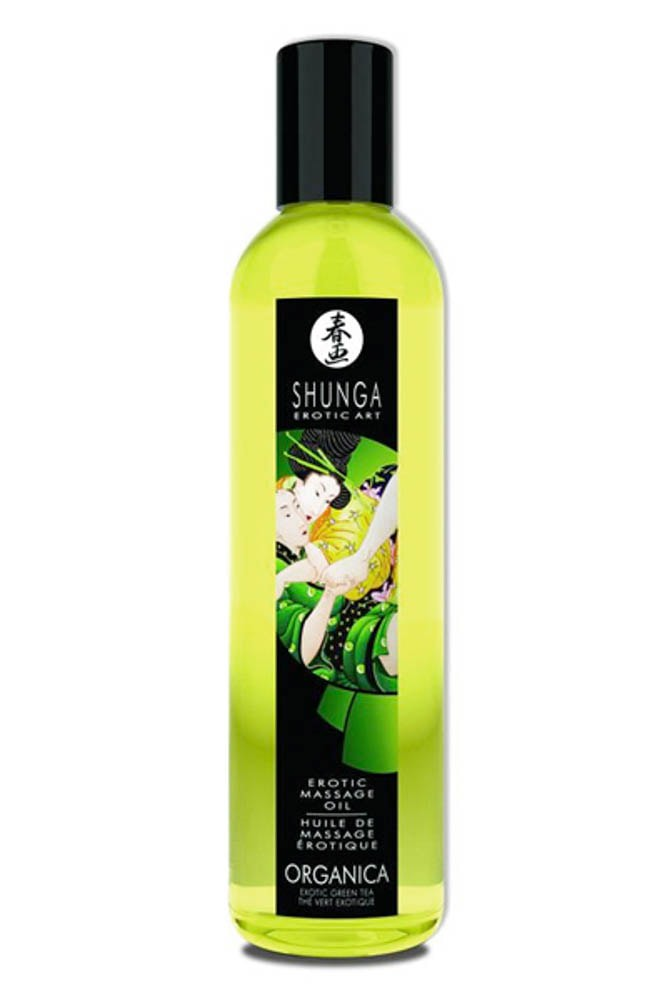 Натурално масажно масло, зелен чай – Erotic Massage Oil Exotic, Green Tea 250ml