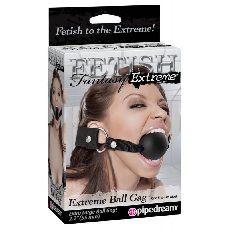 Топка за уста, голям размер – Extreme Ball Gag Black