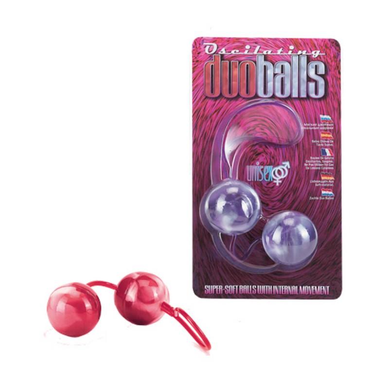Вагинални топчета с вътрешни тежести, червени – Marbilized Duo Balls Red