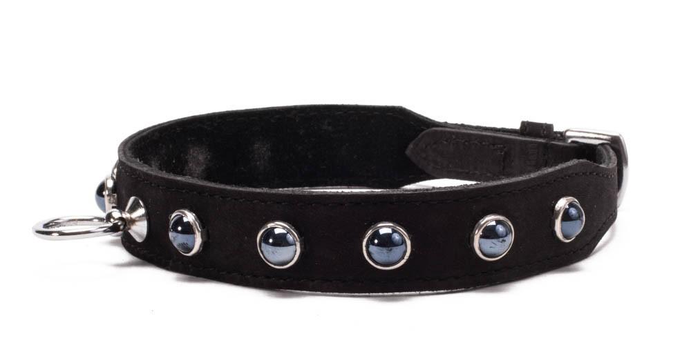 Кожен нашийник с черни кристали - Octane Crystal Collar - Black — 3