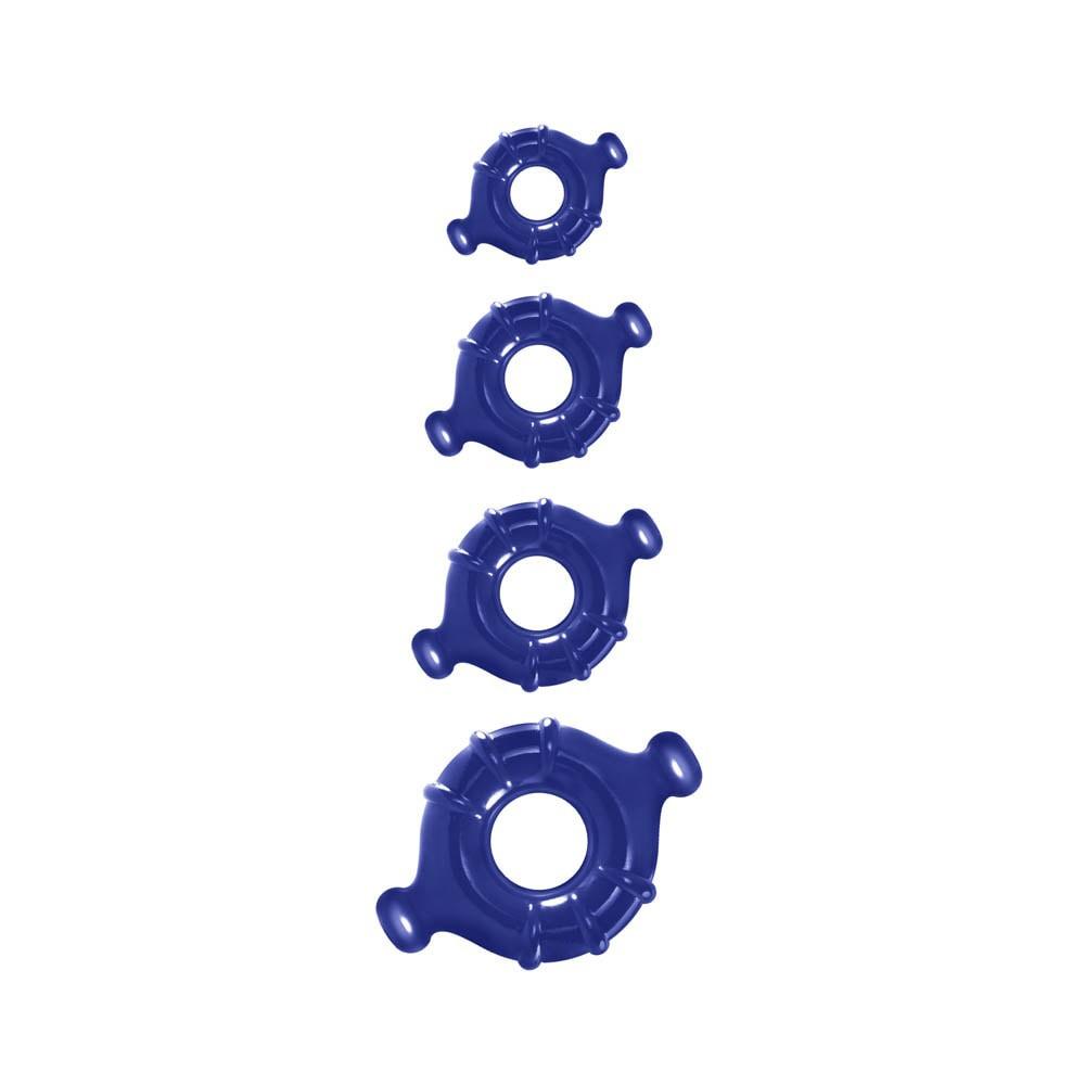 Комплект от 4 уникални пенис пръстена – Renegade Vitality Rings Blue
