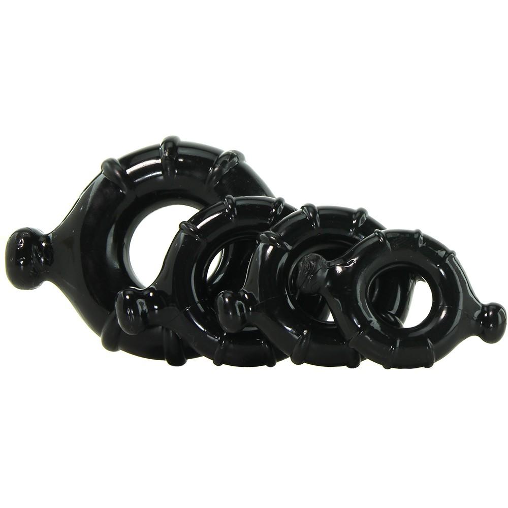 Комплект от 4 уникални пенис пръстена - Renegade Vitality Rings Black — 5