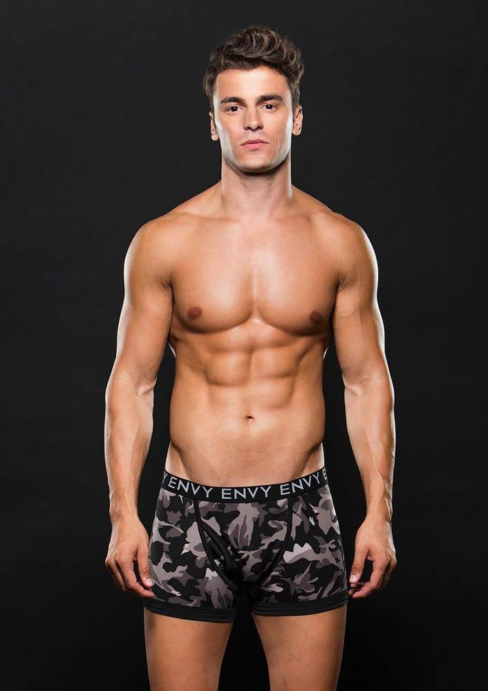 Боксерки сив камуфлаж M/L – Logo Elastic Boxer Brief M/L Gray Camo