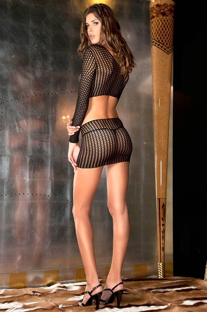 Crochet-Net Bodystocking O/S