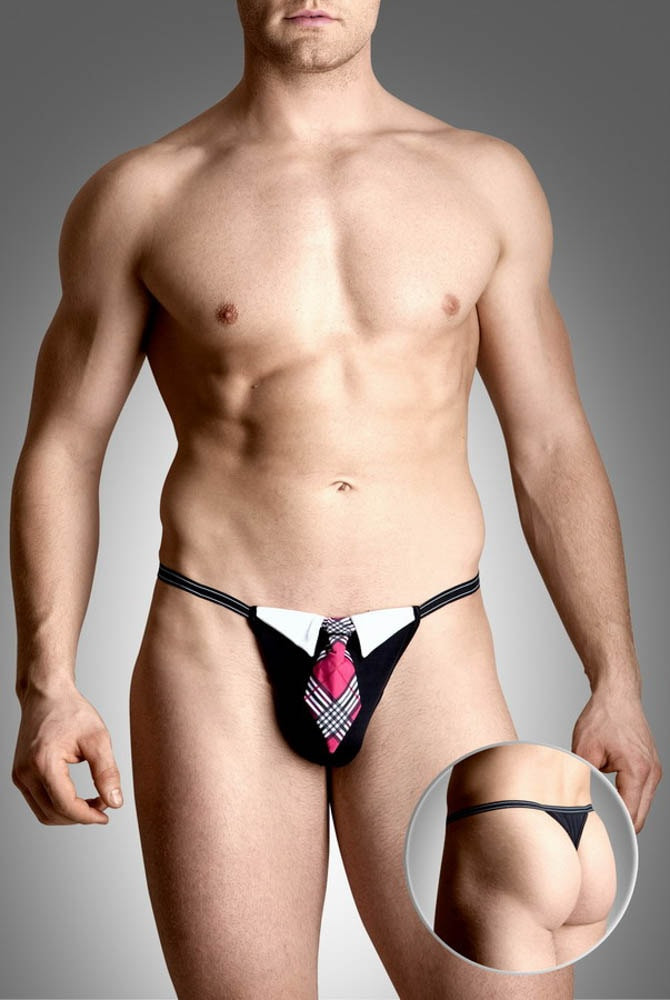 Mens thongs 4491 - black SL