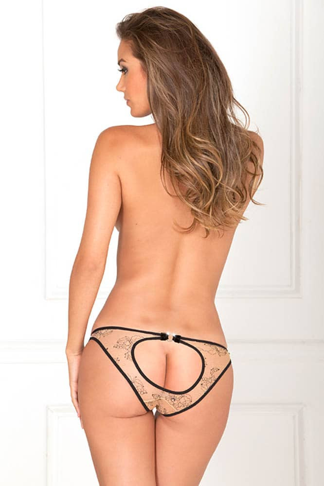 Nude Open Back Panty, S/M
