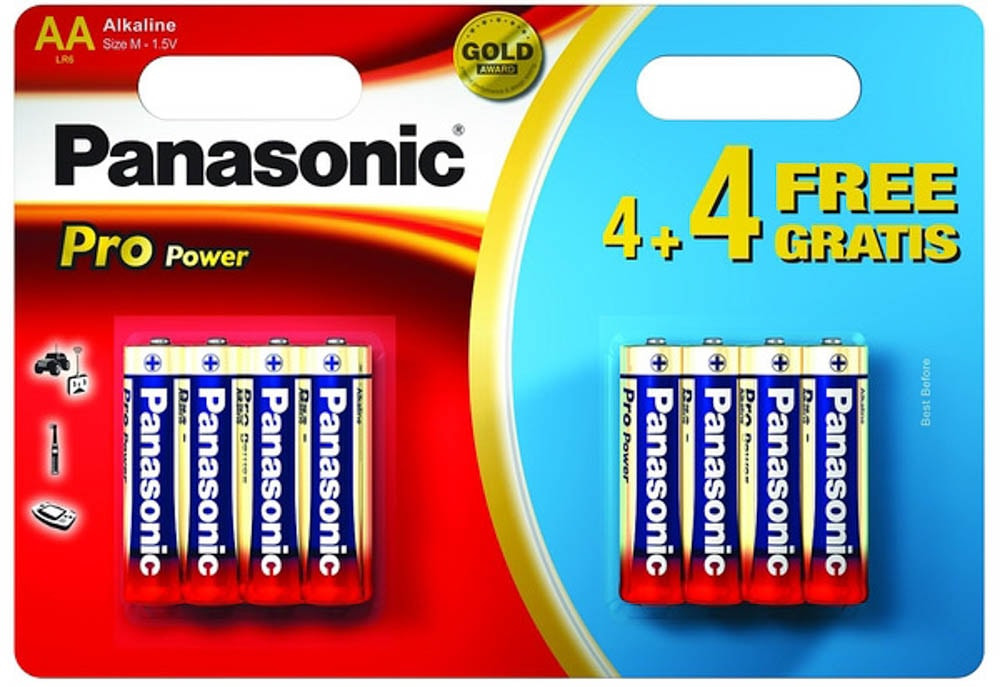PANASONIC ALKALINE POWER BATTERY AA 4+4