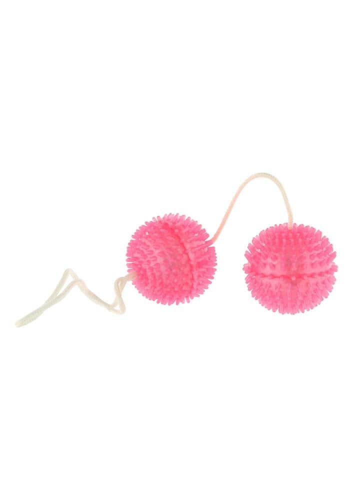 Вагинални топчета с мека стимулираща повърхност – Pink Duoballs Soft