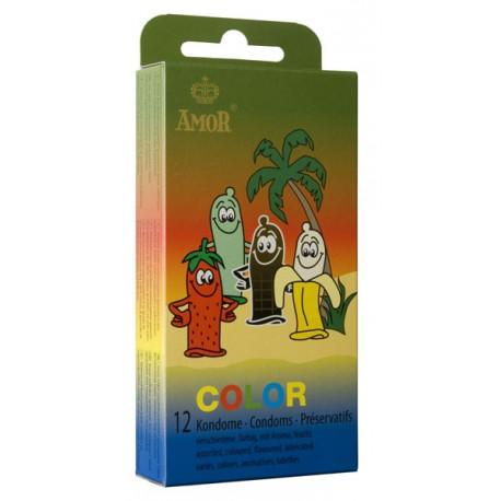 Презервативи, удоволствие с вкус, 12бр. – Amor Color