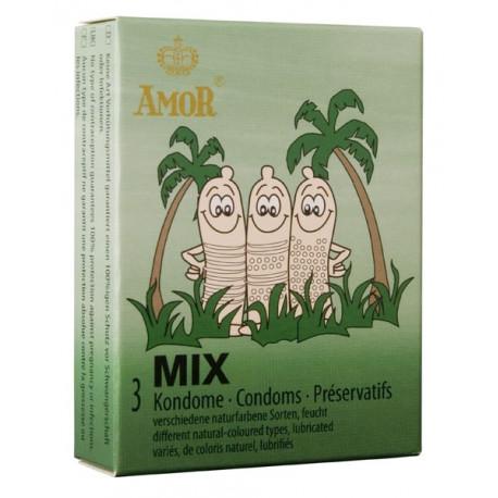 Презервативи, миксирани, 3бр. – Amor Mix