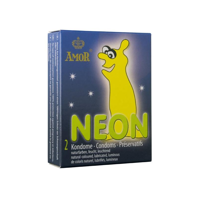 Презервативи, неонова светлина 2бр. – Amor Neon