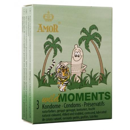 Презервативи, диви моменти, 3бр. – Amor Wild Moments