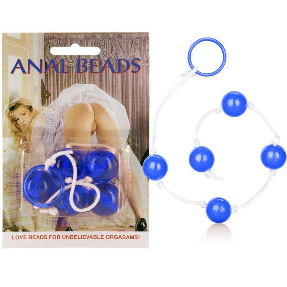Анални топчета, сини – Anal Beads, Large Blue