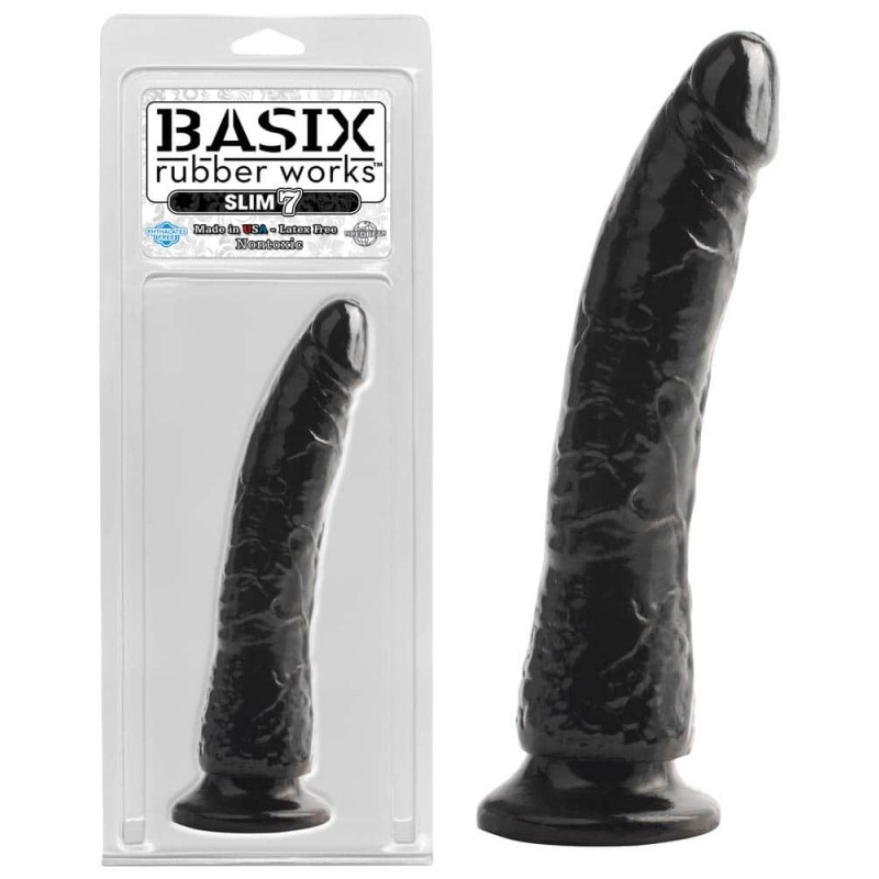 Реалистично дилдо с вакуум основа, 20,3см. – Basix Rubber Works Black