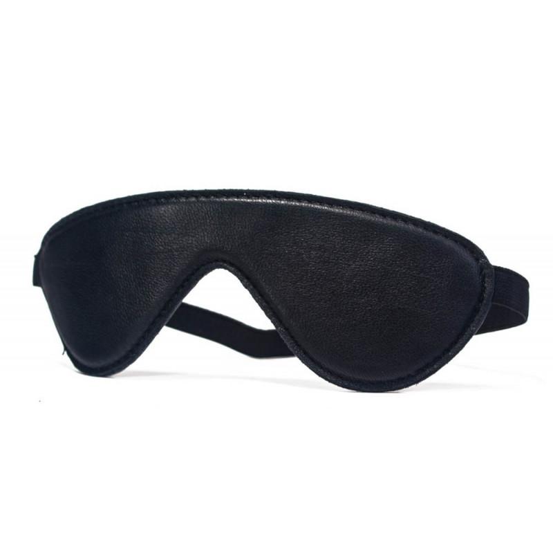 Висококачествена маска за очи от естествена кожа в черен цвят – Devil Sticks, Blindfold