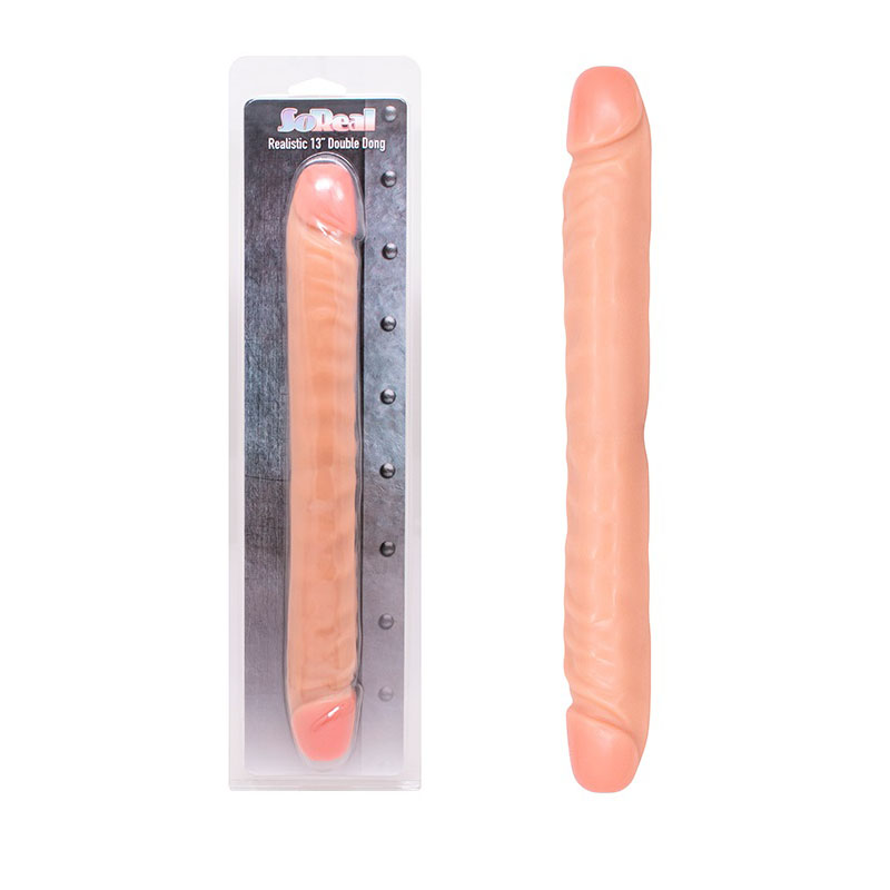 Двойно дилдо в реалистична форма, 33см. – Double Dong Flesh