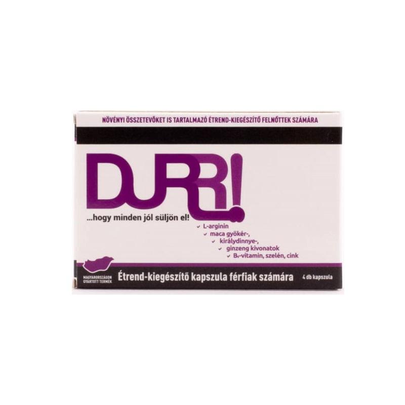 Хранителна добавка, повишете потентността – DURR potency increaser, 4 броя капсули