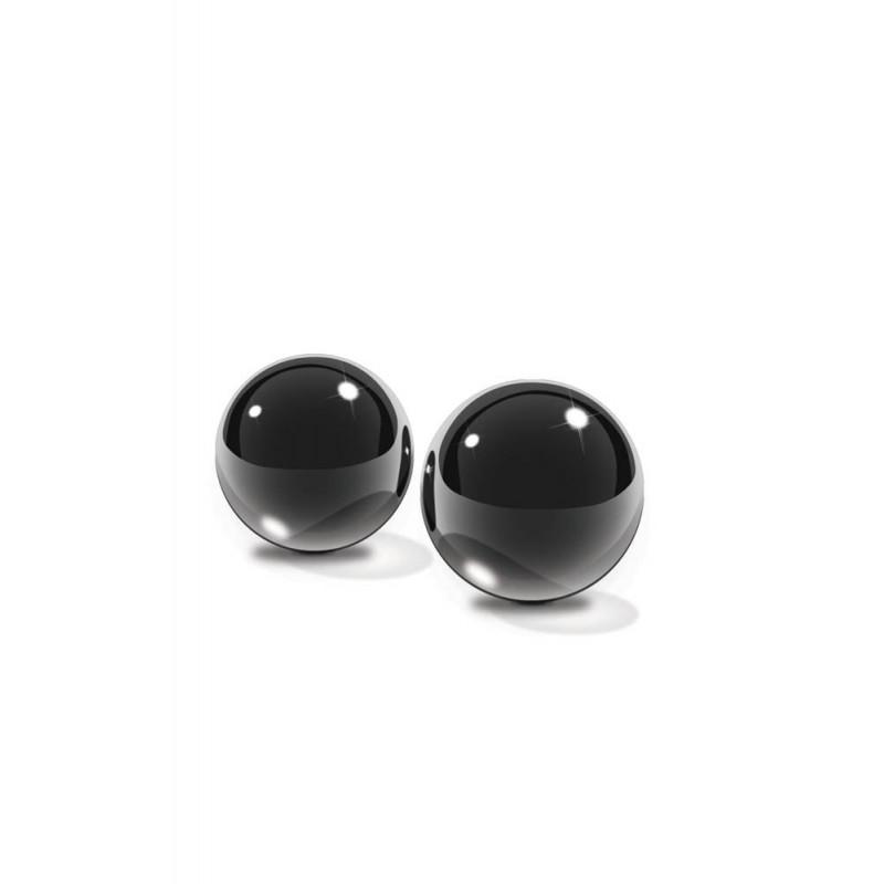 Вагинални топчета лукс от черно стъкло – Small Black Glass Ben-Wa Balls