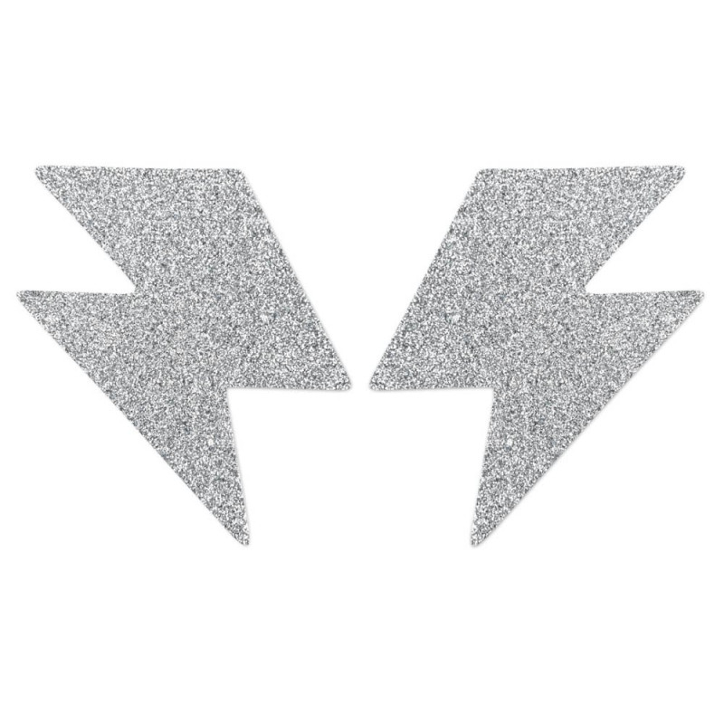 Прелъстяваща декорация за тяло, сребърна – Flash Bolt