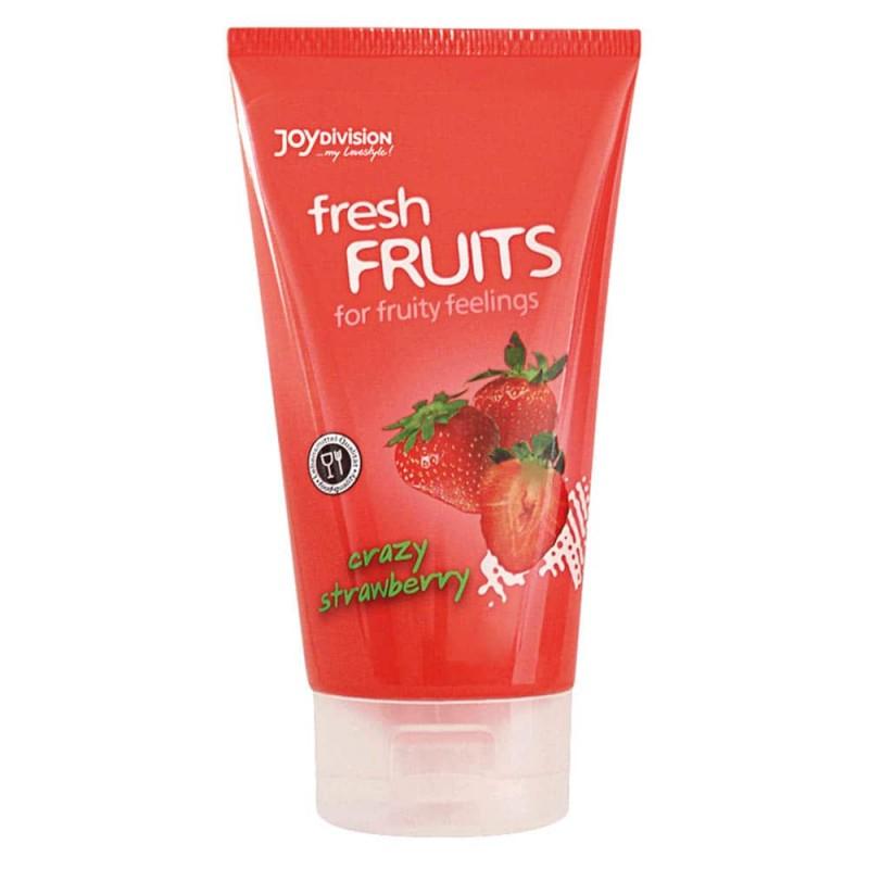 Плодов лубрикант с вкус на ягода, ядлив – Crazy Strawberry 150ml