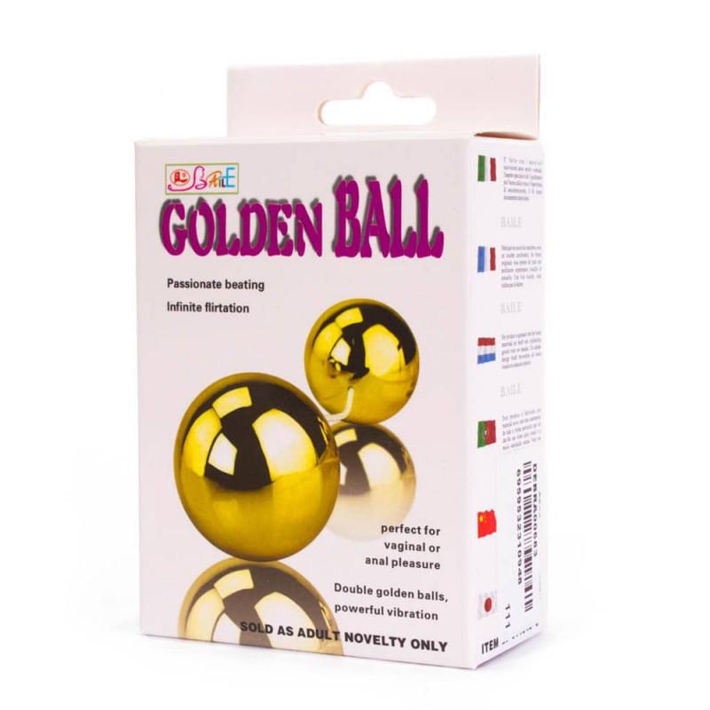 Унисекс вибриращи топчета с дистанционно управление – Golden Balls