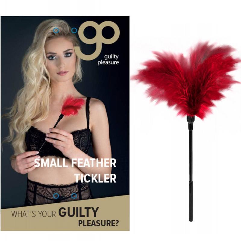 Перо за гъделичкане, малък размер – Feather Tickler Red