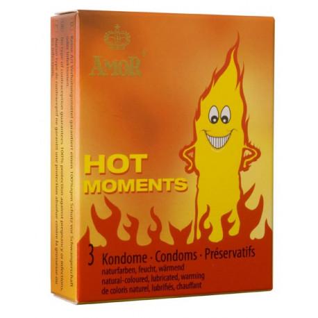 Презервативи, горещи моменти, 3бр. – Amor Hot Moments