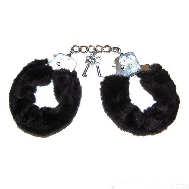Любовни белезници с черен плюш – Love Cuffs Black Plush