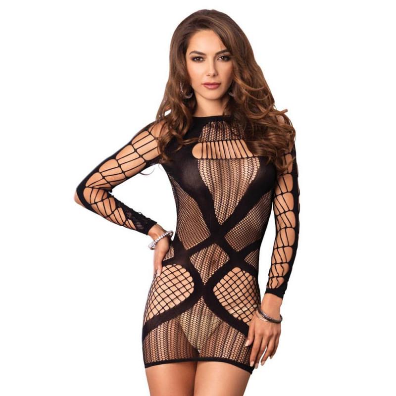 Мини рокля, стилно предизвикателна – Multi Net Mini Dress